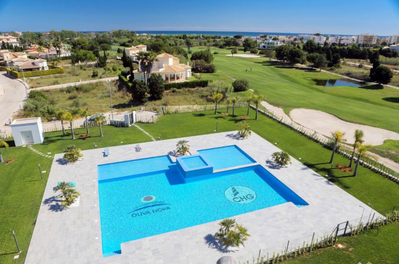 Modern new apartments with views of 12th green at Oliva Nova Golf Resort