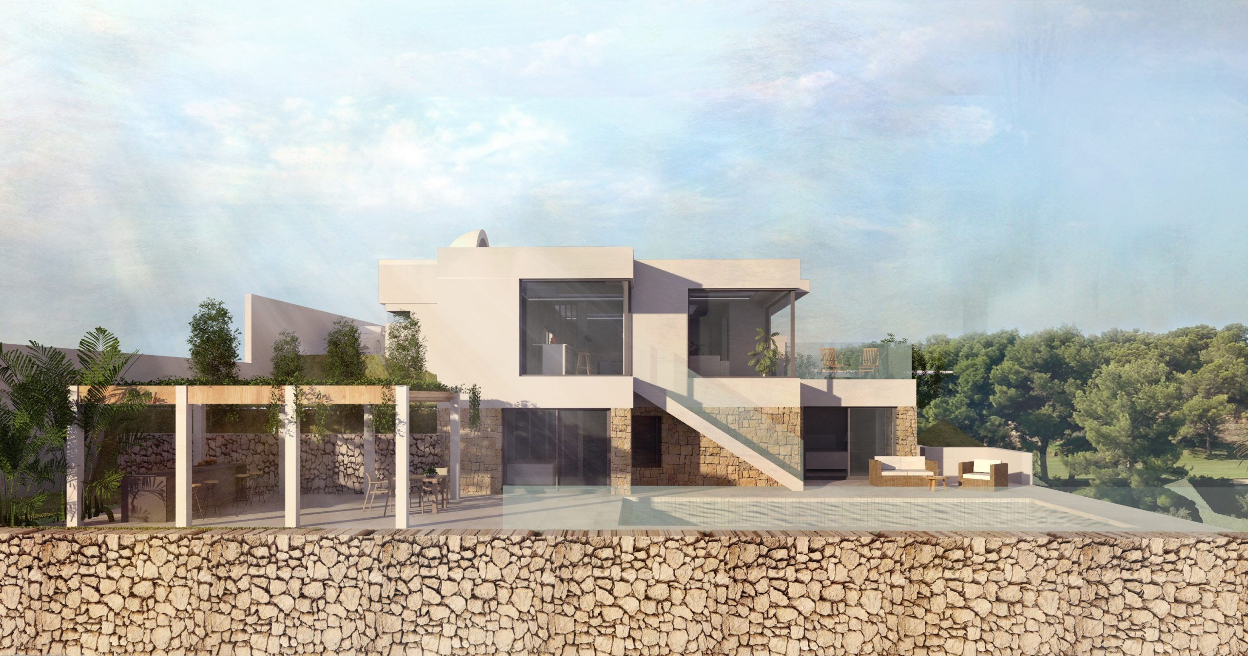 New modern frontline golf villa in Altea Hills for sale
