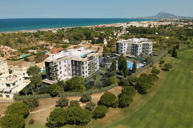 New development of luxury apartments overlooking the 17th fairway at Oliva Nova Golf Resort