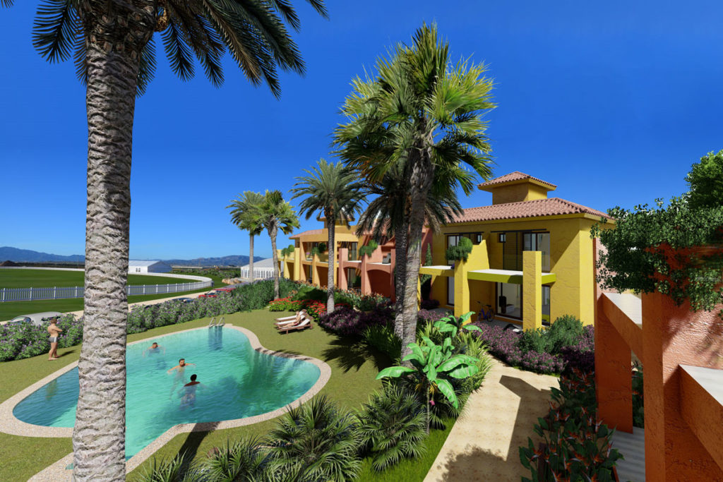 Limited selection of two bedroom townhouses located within Desert Springs Resort , Almeria