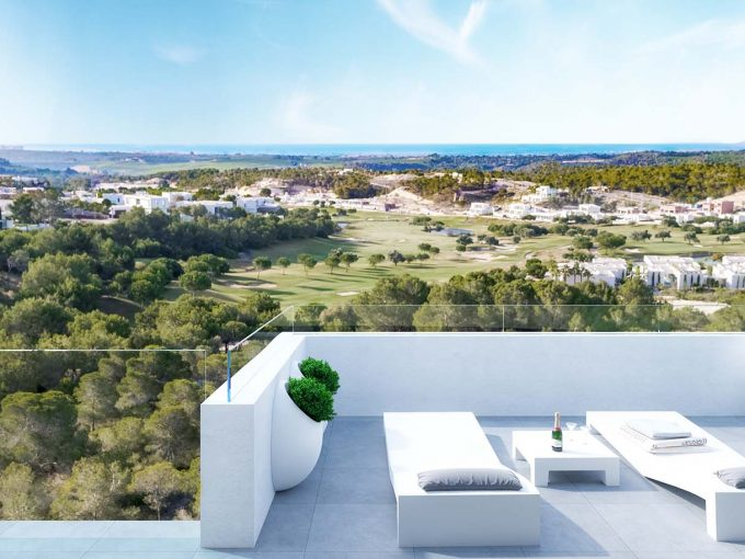 Apartment with golf and sea views in Las Colinas Golf Resort